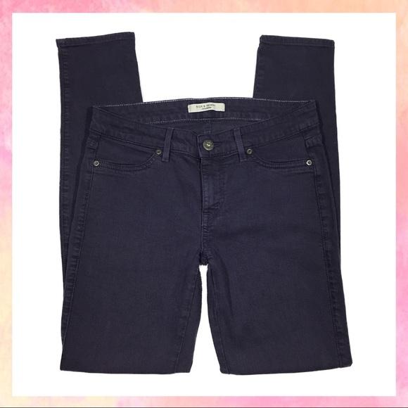 Rich & Skinny Denim - Rich & Skinny Premium Dark Purple Peg Skinny Jeans